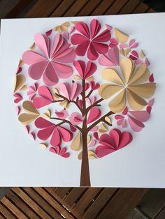 Gästeleinwand für die Hochzeit Paper Flower Decor, Diy Flowers, Paper Flowers, Diy Crafts For Gifts, Crafts For Kids, Paper Crafts, Butterfly Wall Art, Paper Butterflies, Epiphany Crafts