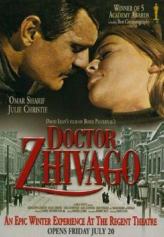 Dr. Zhivago, (1965) dirigida por David Lean y protagonizada por Omar Sharif.