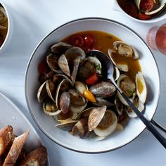 clams clams with hot pepper saffron tomato confit food wine more ...