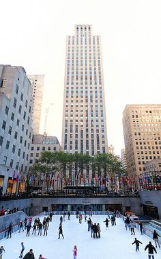 New York City Rockfeller Center Ice skating.. Been here once and once I get married I WILL go again :)