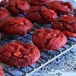 Mom's Test Kitchen: Cream Cheese Swirled Red Velvet Cookies #SundaySupper