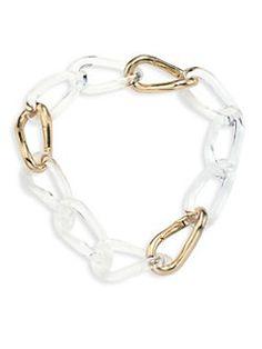 Alexis Bittar - Lucite Convertible Infinity Link Necklace & Bracelet