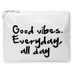 Cheryl White Good Vibes Slogan Clutch (27 CAD) ❤ liked on Polyvore featuring bags, handbags, clutches, accessories, fillers, vegan leather handbags, white purse, pocket purse, vegan leather purse and faux leather purse