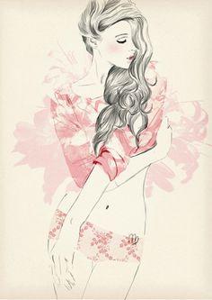 Sandra Suy fashion illustration #illustration #painting #drawing