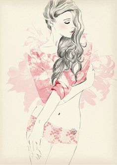 Sandra Suy fashion illustration #illustration #painting #drawing