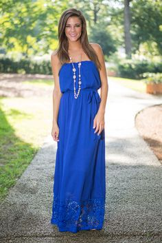 """""""In That Lace Maxi Dress, Blue"""""""