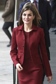 Queen Letizia of Spain visited the Royal Palace in Madrid