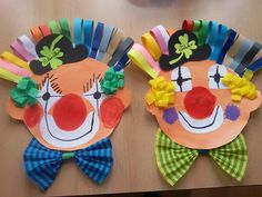 Clown Crafts, Kites Craft, Crafts For Kids To Make, Art Club, Creative Kids, Painting For Kids, Kids And Parenting, Teaching Kids, Card Stock