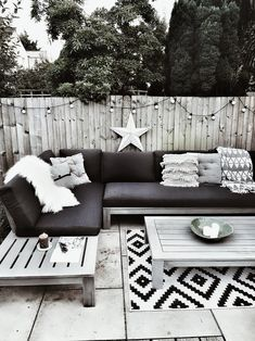 Creating a Scandi inspired outdoor seating area with a grey sofa set, sheepskins for hygge and boho cushions furniture sets outdoor seating lounge areas Outdoor Seating Areas, Garden Seating, Backyard Seating, Diy Garden Furniture, Furniture Sets, Outdoor Furniture, Barbie Furniture, Antique Furniture, Furniture Design
