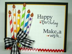 """This would be a SUPER CUTE birthday bulletin board! (Its actually a greeting card -- the """"candles"""" are made of pretty paper straws! Birthday Wall, Birthday Board, Classroom Birthday, Birthday Bulletin Boards, Straw Crafts, Happy Birthday Jesus, Paper Straws, Diy Arts And Crafts, Creative Cards"""
