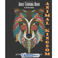 Adult Coloring Book Animal Designs Patterns Relax Stress