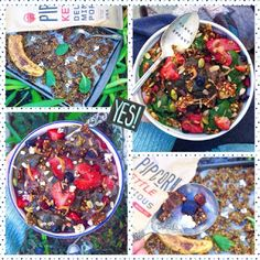 Gluten free, vegan and popcorn-stuffed granola? Perfect toppings for homemade smoothie bowls!