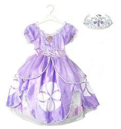ALIEXPRESS 13€ - HOT SALE! 2015 Princess sofia dress costume vestido disfraz princesa sofia princesinha sofia the first roupas infantil meninas1