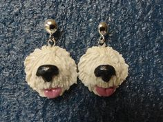 Earrings  Old English Sheepdog by Sheepiedoodles on Etsy