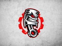 Piston logo mascot designed by Josip. Connect with them on Dribbble; the global community for designers and creative professionals. Garage Logo, Garage Art, Logo Sticker, Sticker Design, Mascot Design, Logo Design, Piston Tattoo, Pistons Logo, Sport Logos
