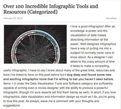 Over 100 Incredible Infographic Tools and Resources Categorized #infographics