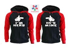 6cefae74e2 Items similar to I'm Hers He's Mine Couple Raglan Hoodies Matching Hoodies  For Couples pärchen pullover Couple Matching Sweatshirts Cute Couple Hoodies  on ...