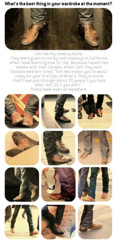 Tom Hiddleston likes cowboy boots. Is is sad this makes me REALLY happy????? xD