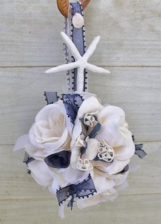 Wedding Pomander  Nautical  Flower Girl  by ForeverDenimandLace, $26.00