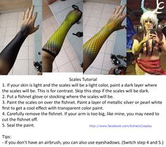 How to paint makeup scales on your arm - by Kohalu Cosplay