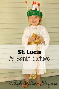 What a simple All Saints' Day Costume. Lucia-too cute! Lucy Costume, Eve Costume, Diy Costumes, Halloween Costumes For Kids, Vintage Halloween, Costume Ideas, Children Costumes, Vintage Witch, Costume Makeup