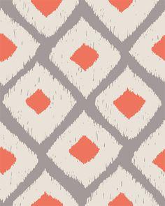simple, cheery - Ikat pattern