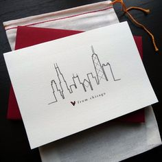 outline of chicago skyline tattoo - Google Search