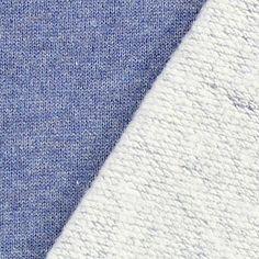 Soft Sweater – bleu jean - Tissus sweats à capuche & sweatshirts Sewing Clothes, Hoodies, Sweatshirts, Blue Denim, Fabric, Sweaters, Cotton, Shopping, Colour