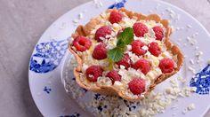 Tartaletas de mango con chocolate blanco y frambuesas - Julius - Julio Bienert - Receta - Canal Cocina