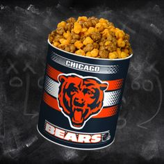 Kick-off your game right with a Chicago Bears Tin from Garrett Popcorn Shops! http://www.garrettpopcorn.com/chicago-bears/