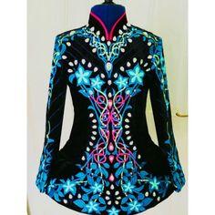 Beautiful Black Velvet And Blue Dress - Other Designer Irish Dance Dress