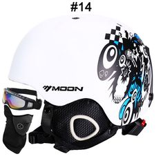 MOON CE Certification Safety Ski Helmet Integrally-molded Skating/Skateboard/Snowboard Helmet Size 52-64 CM