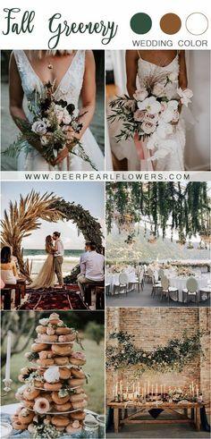 rustic fall greenery wedding decor ideas #wedding #weddings #greenwedding #weddingblog #weddinginspiration #green #deerpearlflowers #weddingcolors