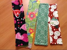 Fabric Bookmark - How to sew a simple fabric bookmark - YouTube