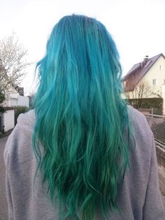 Shades of Grunge Dark Green Hair, Yellow Hair, Blue Green, Hair Color Pink, Purple Hair, Hair Colours, Aqua Hair, Colors, Blue Hair Tumblr