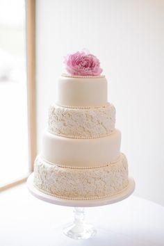 super-feminine wedding cake!