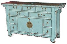 Sideboard Two-Door/Nine-Drawer With Marble - asian - buffets and sideboards - Milieu