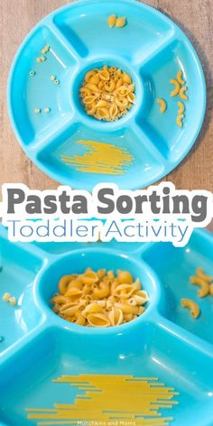 """Need a quick activity to keep you sane during the """"witching hour""""? This pasta sorting activity is perfect!"""