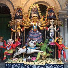 Image may contain: 5 people Durga Maa Paintings, Sculpture Art, Sculptures, Festival Quotes, Hindu Dharma, Durga Puja, Goddess Lakshmi, Indian Festivals, Photography Business
