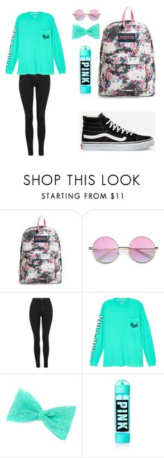 """Untitled #66"" by caroline2405 on Polyvore featuring JanSport, Topshop, Victoria's Secret and Vans"
