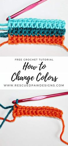 Learn How to Change Colors in Crochet From Rescued Paw Designs. Click to Read or Pin and Save for Later! www.rescuedpawdesigns.com via @rescuedpaw