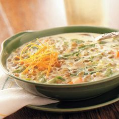 Lentil Soup Recipes from Taste of Home, including Cream of Lentil Soup Recipe