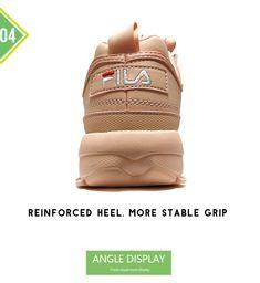 FILAS Disruptor II 2 pink women s Running Shoes sneaker Thicker legs repair  leggings jogging light breathable 96eab722af96