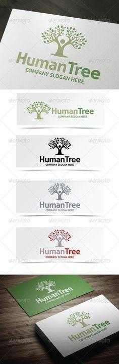 Human Tree Logo - $29  http://graphicriver.net/user/debo243/portfolio