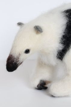 Needle Felted Collared Anteater Soft Sculpture by YvonnesWorkshop, $235.00