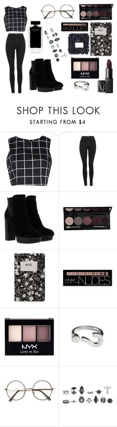 """""""// Makeup addicted //"""" by karolinabieber-1 ❤ liked on Polyvore featuring Boohoo, Topshop, Hogan, NARS Cosmetics, Design Letters, Charlotte Russe, NYX and Narciso Rodriguez"""