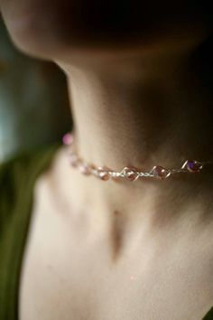 A personal favourite from my Etsy shop https://www.etsy.com/ie/listing/528485119/beaded-choker-silver-plated-choker
