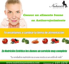 Conoce un alimento bueno en Antienvejecimiento. NUTRICIÓN ESTÉTICA http://nutricionylaestetica.blogspot.com/2012/06/httpwww_5552.html?spref=tw