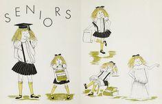 Student art in the 1960 yearbook of Overbrook high school in Philadelphia, Pennsylvania.  #Overbrook #yearbook #1960