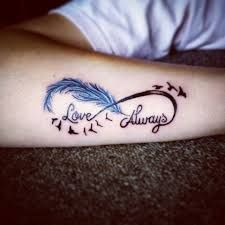 Image result for feather infinity tattoo